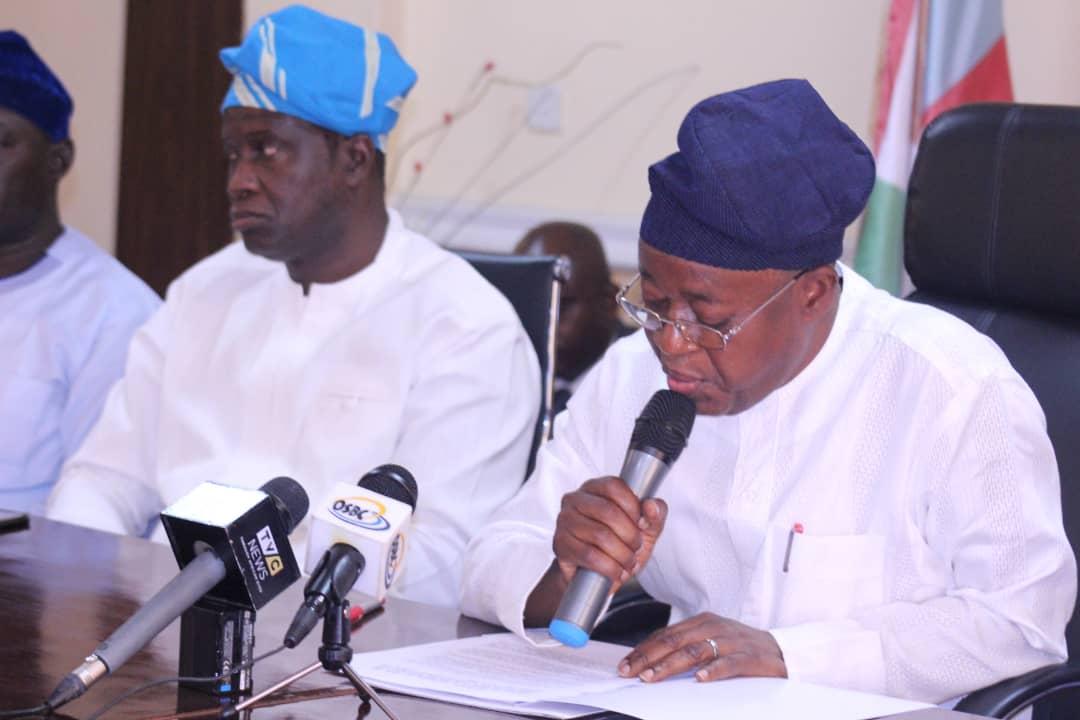 Governor Osun, Adegboyega Oyetola today inaugurated the ...